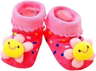 VIccoo, VIccoo Calcetines Bebe, Antideslizante Algodón Nacido Infantil de Dibujos Animados Zapatillas de Animales Botas Unisex - 16