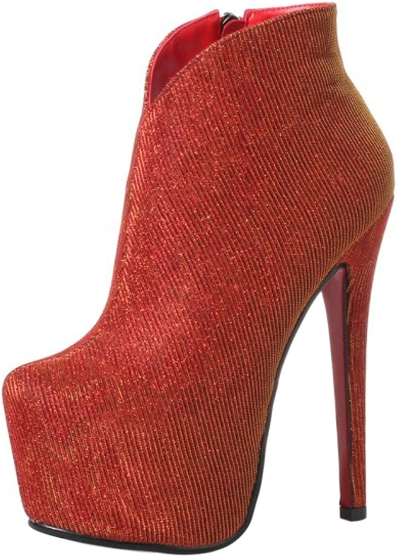 FizaiZifai Women Party Boots Zipper
