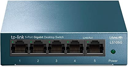TP-Link 5 Port Desktop/Wallmount Gigabit Ethernet Switch,Ethernet Splitter, Steel Case,..