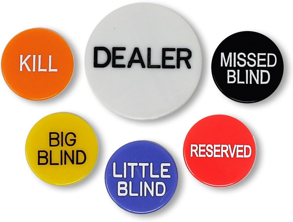 DA VINCI Set of 6 Professional Poker Casino Holdem Dealer Texas 5% OFF Quality inspection