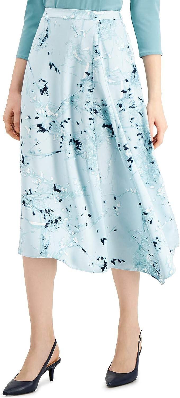 Alfani Womens Printed Asymmetric A-Line Skirt