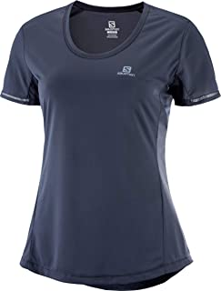 Salomon Women's Agile ss tee, Gray, Medium