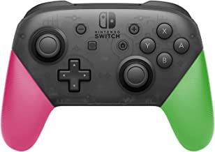Anti-Slip Grip Shell for Switch Pro Controller, DIY Delicate and Textured Replacement Grip Handles Cover Shell for Nintendo Switch Pro Controller (Pink & Green)