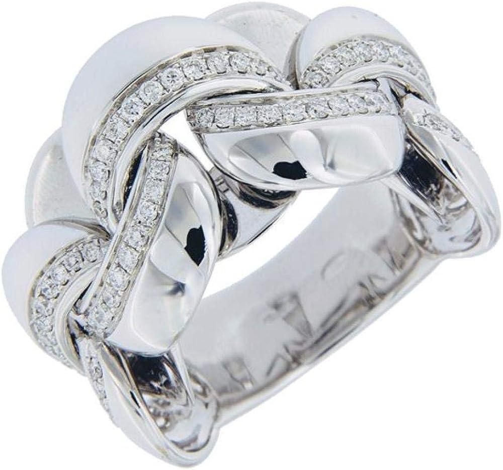 Chimento,anello per donna,in oro bianco 18kt(12,10 gr) con diamanti 0.54 ct 1A07991B15140-14