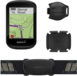 Garmin Edge 830 Sensor Bundle, Performance Touchscreen GPS Cycling/Bike Computer with Mapping, Dynamic Performance Monitoring and Popularity Routing, Includes Speed and Cadence Sensor and HR Monitor