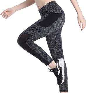 a419c3610189ff Picotee Sport Leggings Damen Yogahose Leggins Hoher Bund Sporthose  Blickdicht Leggings Lang Tasche Fitnesshose Schwarz