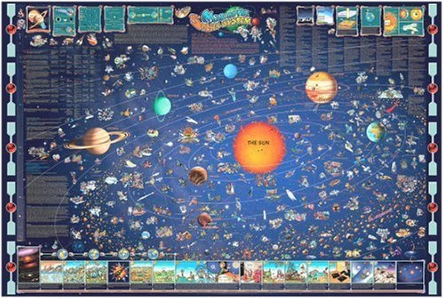 Obtén lo ultimo Great American Puzzle Factory Map Map Map Of The Solar System 600 Piece puzzle by Great American Puzzle Factory  mejor reputación