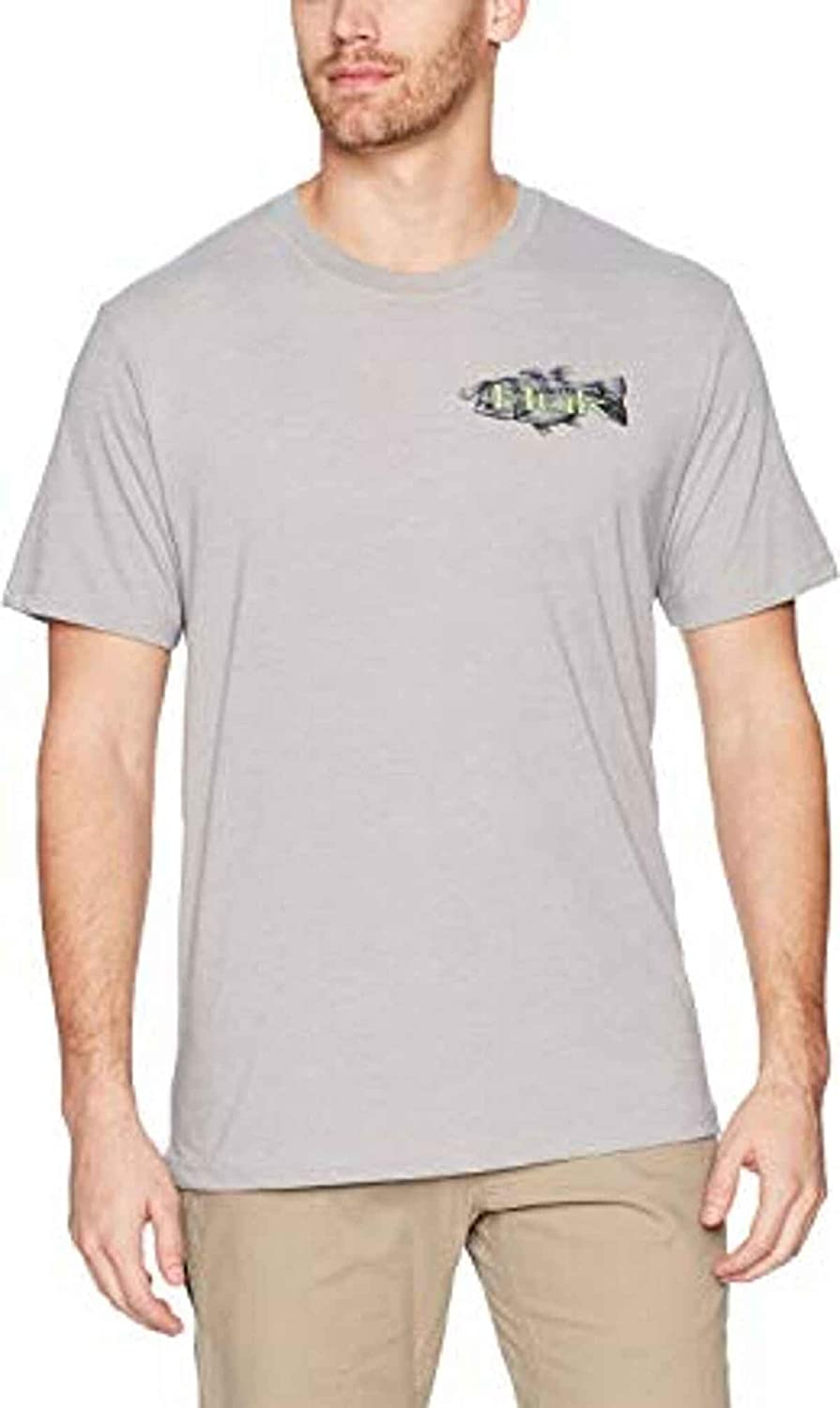 HUK Men's KC Opening large Superior release sale Scott Bass Tee Lilly