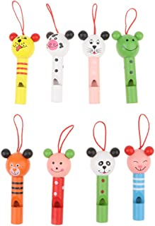 8pcs Karikatur Miniflöte Tierpfeife Kinderpfeife