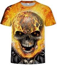 Blwz T-shirt voor heren met doodshoofd van 3D-dood...