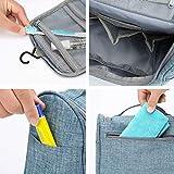 Kulturbeutel Waschtasche Unisex - Acdyion Aufhängen Kosmetiktasche Reise-Tasche für Herren und Frauen für Koffer & Handgepäck Urlaub Waschbeutel Toiletry Bag (Blau) - 4