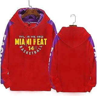 con capucha Sudadera con capucha para hombre XGMJ Tyler Herro dise/ño de Miami Heat Baloncesto con capucha y manga larga