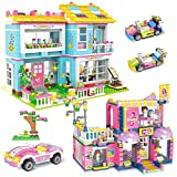 1655 Pieces Friends Hair Salon Room & Family Party Creative Girls Building Blocks Toy Set with Storage Box, Best Learning and Roleplay STEM Construction Toy Gifts for Kids Ages 6-12