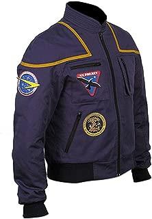 KAAZEE Mens Star Space Pilot Enterprise Uniform Blue Cotton Bomber Jacket
