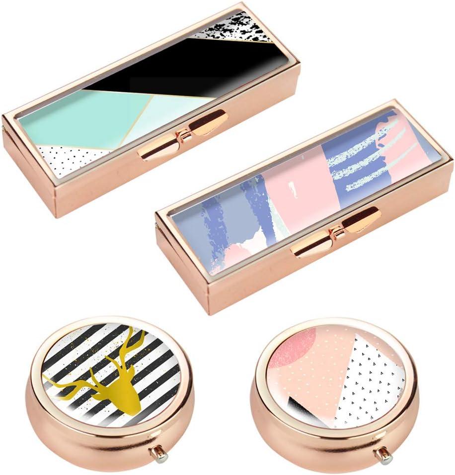 Hennaja Rectangle Pill Box Round Decorative Pocket Direct store Tulsa Mall and
