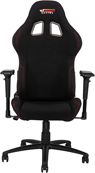 GT Omega PRO Racing Fabric Gaming Chair With Lumbar Support Breathable Ergonomic Office Chair With 4D Adjustable Armrest Recliner Esport Seat For Ultimate Gaming Experience Black
