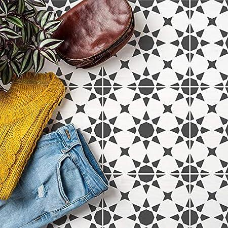 Agadir Tuile Motif Pochoir Peinture Murs Sols Meuble Marocain Tuile Decor Maison Reutilisable Geometrique Peinture Pochoir L 30x30cm Amazon Fr Cuisine Maison