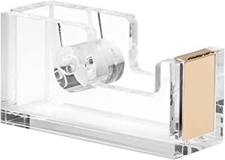 Acrylic & Gold Tape Dispenser by OfficeGoods - A Classic Design to Brighten Up Your Desk and Office