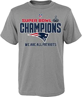 Majestic England Patriots NFL Super Bowl XLIX Champions Official Youth Locker Room T-Shirt