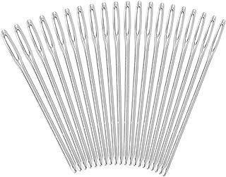 20 Stücke Silber Großaugen Stumpfe Nadeln Quilten Garn Stricken Stitching Nadeln zum Einfädeln Stopfen Nähen Stickerei
