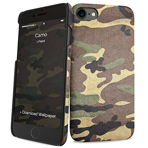 i-Paint Cover Hard Case per iPhone 8/7/SE 2020, Modello Camo