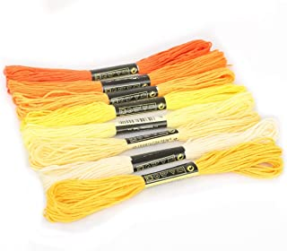 8Pcs Multicolor Anchor Similar Thread Stitch Sewing Skeins Embroidery Thread Floss Kit DIY Sewing Tools Craft lihuatai (Co...