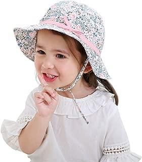 R-SHOPE Baby Girls Polka Dot Floppy Bucket Hat Cotton Sun Hats Toddlers Fisherman Cap