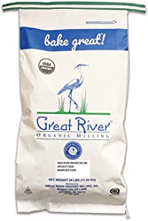 Great River Organic Milling, Specialty Flour, Brown Rice Flour, Stone Ground, Organic, 25-Pounds (Pack of 1)