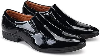 Zenwear Men's Black Slip On Formal Shoes