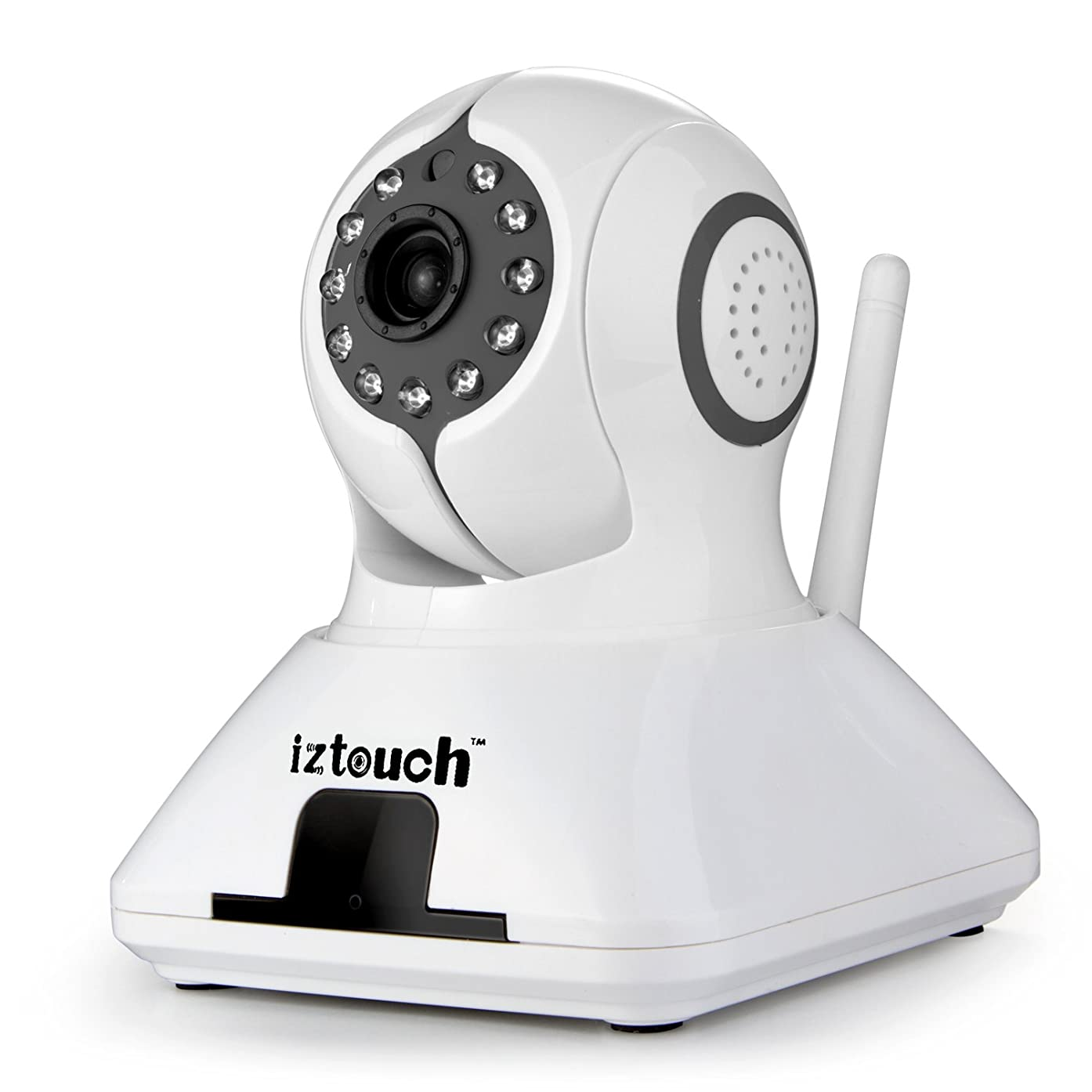 iZtouch IZSP-006 Black 1280x720P HD H.264 Wireless/Wired IP Camera with Two-Way Audio IR-Cut Filter Nithgt Vision Pan/Tilt Control QR Code Scan Phone remote monitoring supported