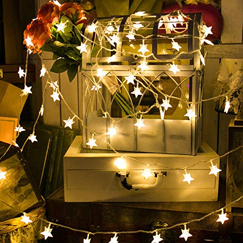 Cadena de la lámpara, 40 LED 6M Estrella Cadena de Luces Funciona con Batería de Hadas Cadena de Luz Para el Partido Casero, Luz LED Grandes Ventas Blanco