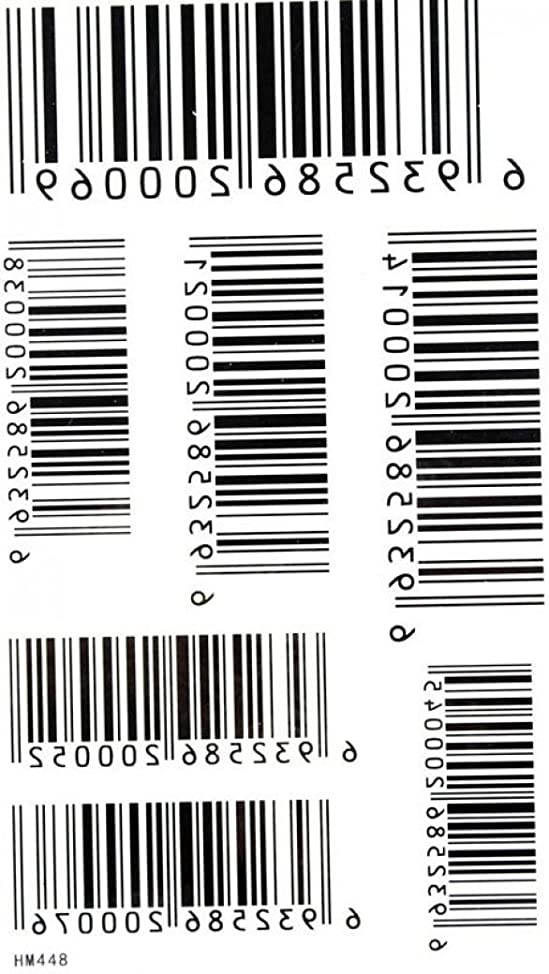 SPESTYLE waterproof non-toxic temporary tattoo stickerstemp tattoos waterproof and sweat of men and women fashion sexy tattoo bar codes