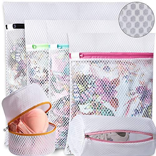 Amazon Brand - Umi Bolsas para la Colada de Malla de Panal para almacenar o Lavar Blusas delicadas Medias Ropa Interior Sujetadores y Zapatos, Bolsas de lavandería para organización de Viajes