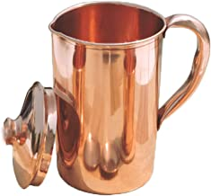Pure Copper Smooth Water Jug   Copper Pitcher for Ayurveda Health Benefit Smooth Finished