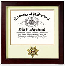 product image for flag connections US Sheriff Medallion 8-Inch by 10-Inch Certificate Frame