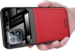 OPPO Reno 4 SE Case, Ikwcase Business Slim Litchi Skin Anti-slip TPU Bumper Hybrid Glass Lens Protective Case Cover for OP...