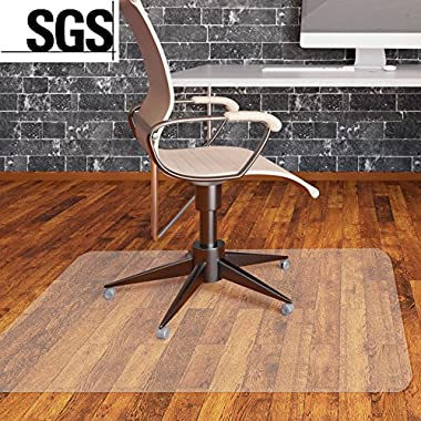 MVPOWER Office Chair Mat for Hard Floors PVC Clear Floor Protection Mats for Home Office Desk Chairs, 48  x 36