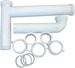 LASCO 03-4215 White Plastic Tubular 1-1/2-Inch by 16-Inch Telescopic/Adjustable Center Outlet Kitchen Sink Drain Kit