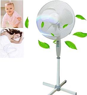 Ventilador Zeerkeer, 50 vatios | Ventilador oscilante | Máquina de viento | Acondicionador de aire | Ventilador de torre | Ventilador de piso | Ventilador de pie | 3 etapas | Altura ajustable