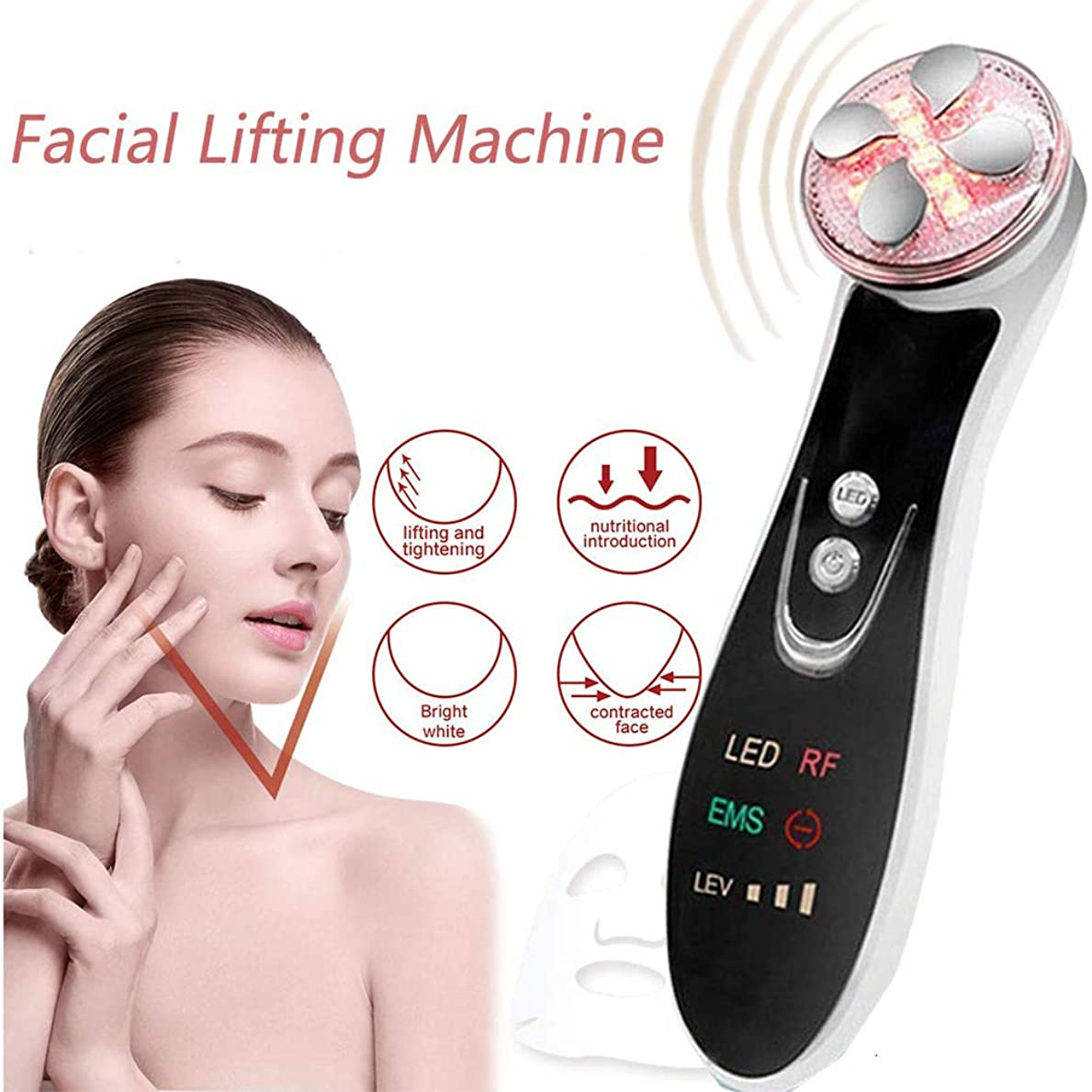 災難乱用契約する機械をきつく締める皮、1つのRF EMS LEDライト療法のしわに付き顔の持ち上がるボディ形削り盤機械6つは反老化のアクネの美装置を取除きます