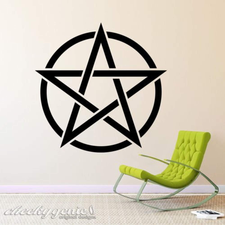 Adhesive Wall Hangers Pentagram Music Notes Wall Sticker pentagram