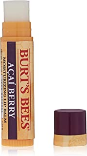 Burt's Bees 100% Natural Moisturizing Lip Balm, Acai Berry 0.15 oz (Pack of 4)