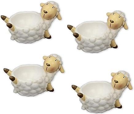 Preisvergleich für Pommerntraum | lustige Eierbecher | Schafe | Schäfchen ❤ 4 STÜCK