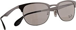 Ray Ban RB 6346 Eyeglasses 50-19-140 Brushed Gunmetal w/Demo Clear Lens 2553 RX RX6346 RB6346