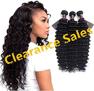 10 12 14 Brazilian Deep Wave Virgin Hair 3 Bundles- 100% Unprocessed Human Hair Wave Can Be Dyed and Bleached 10 12 14 inch