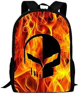 Westcoast Fire Corvette Car Logo Cute Backpack School Bag Book Bag for Boys Girls