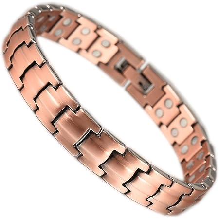 YINOX Bracelet magnétique en cuivre avec des aimants Extra forts 1200 Gauss pour Les Femmes Bijoux 20CM / 9MMfor Magnet Prime