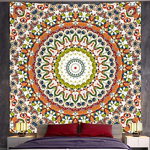 QAWD Tapiz de Mandala Indio Tapiz de brujería Estilo Boho Hippie psicodélico Escena Fondo Tela Manta Tela Colgante A3 100x150cm
