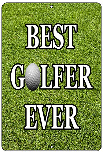 Funny Golf Metal Tin Sign Golf Wall Decor Man Cave Bar Best Golfer Ever Picture