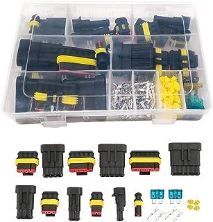 pour Bateau Camion Auto Scooter Moto QitinDasen 6 Kit Professionnel 6 Pin Voiture Fil Electrique Etanche Connecteur Terminal Plug Prise Set